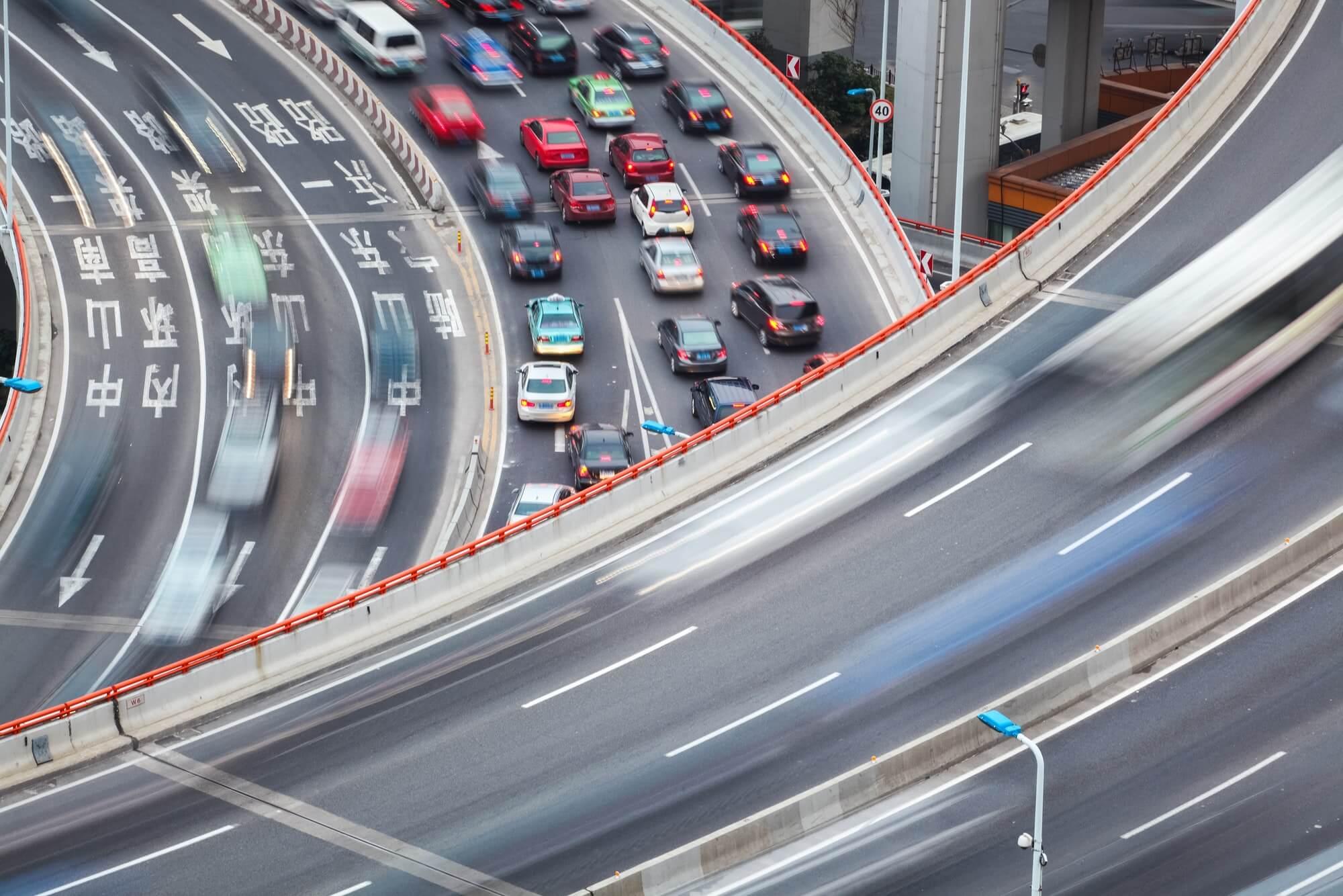 interchange bridge closeup